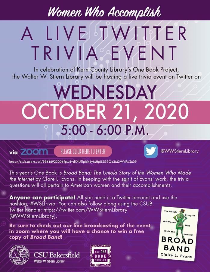 Women Who Accomplish: A Live Trivia Event