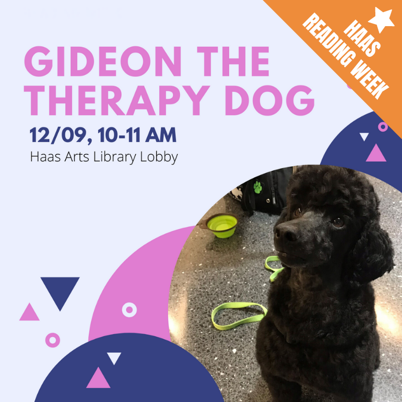 CANCELED: Gideon the Therapy Dog!