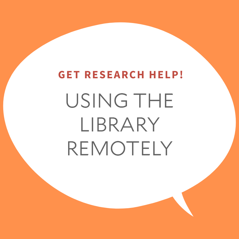 Using the Library Remotely