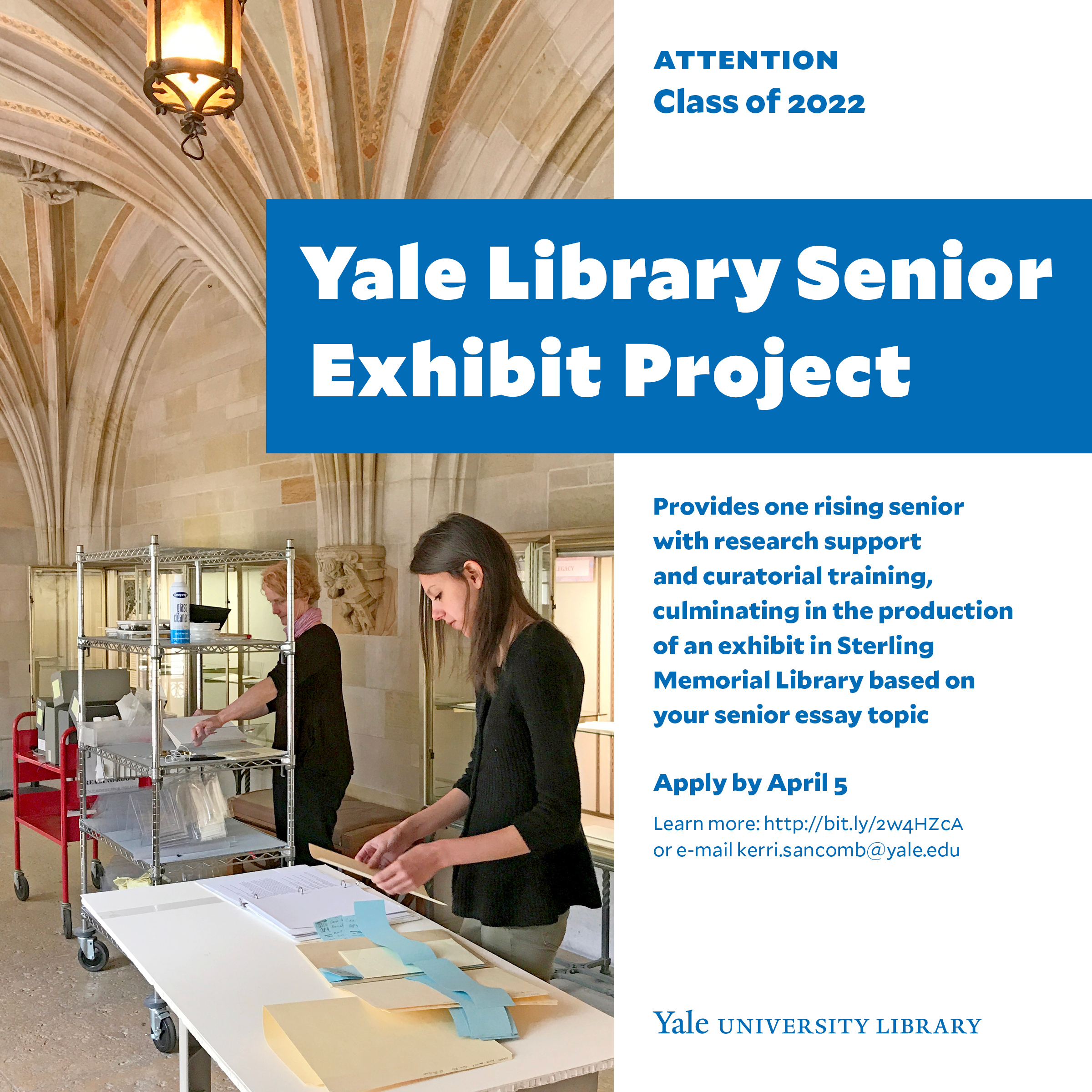 Information Session: Yale Library Senior Exhibit Project