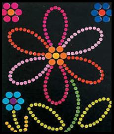 Spring Flower Sticker Dot Art