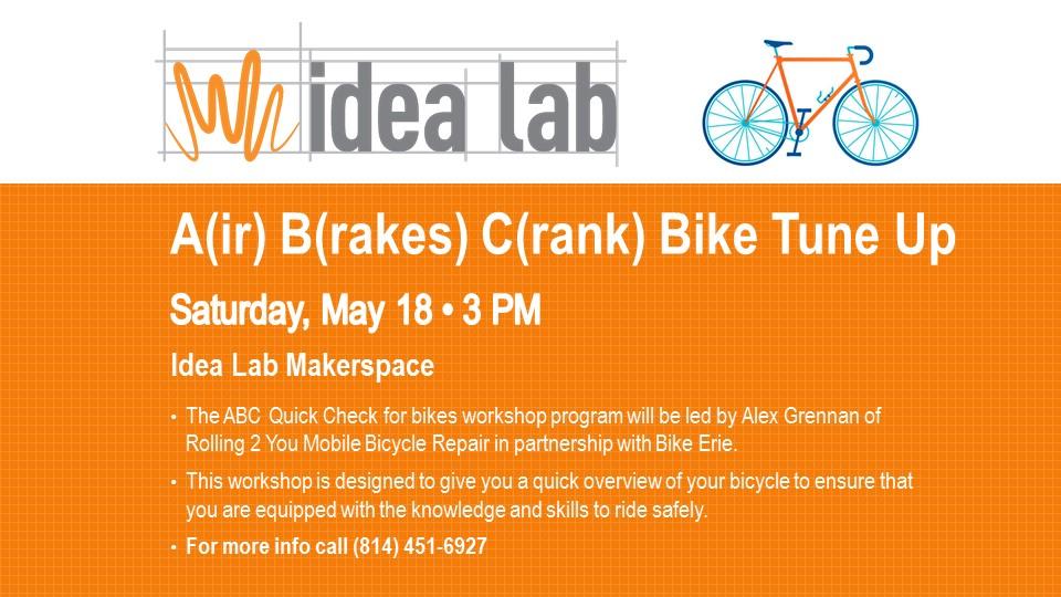 Air (A) Brakes (B) Cranks (C) Quick Check Bike Workshop