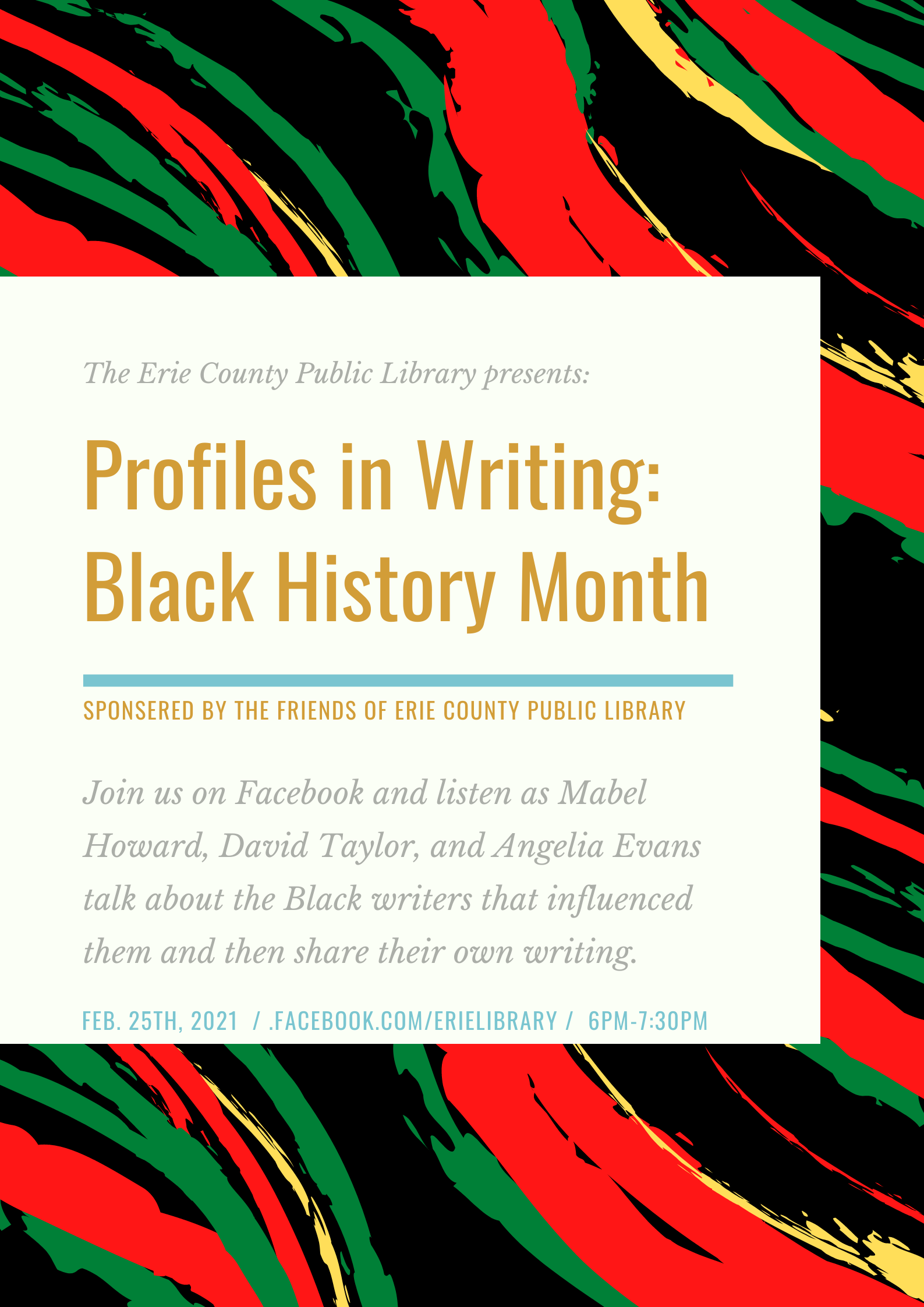 Profiles in Writing: Black History Month