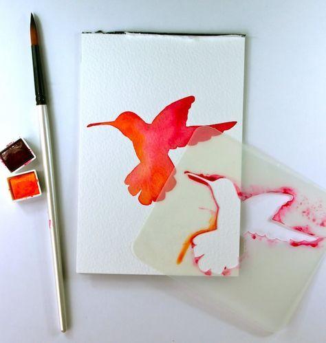 Idea Lab Demo: Watercolor Stenciling