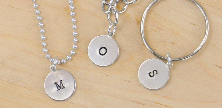 Metal Stamping: Letter Pendant