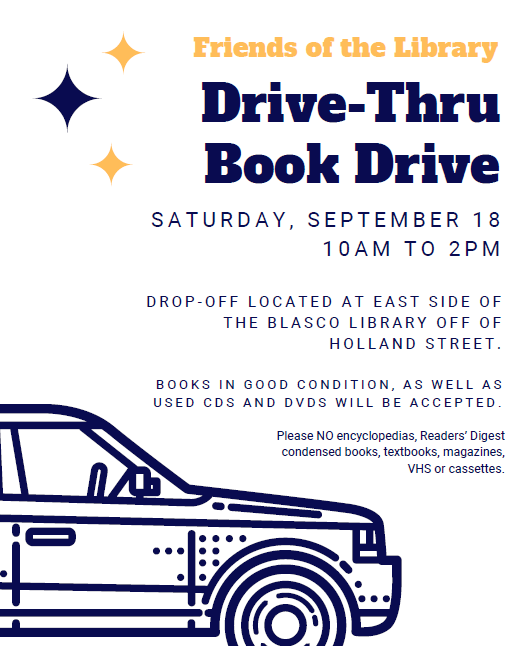 Friends of the Library: Drive-Thru Book Drive