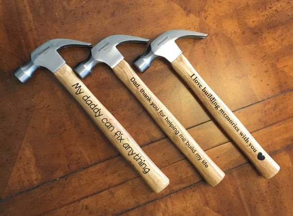 Curb-Side Father's Day Engraved Hammer