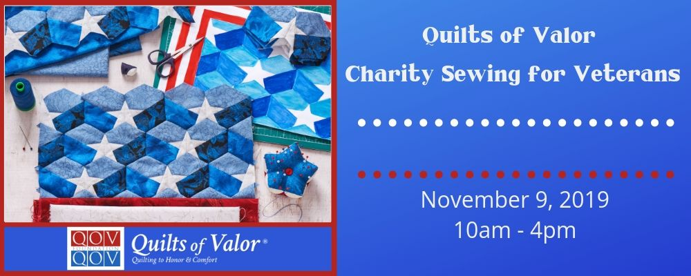 Quilts of Valor Charity Sewing for Veterans