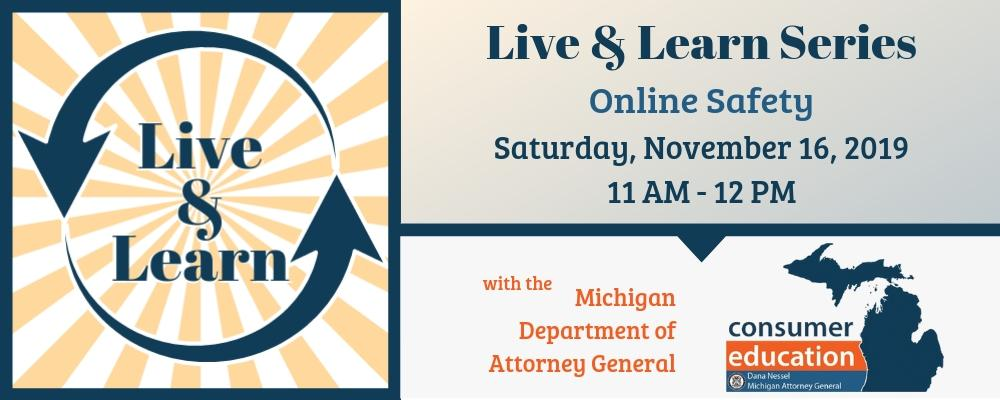 CANCELED: Consumer Education: Online Safety with the Michigan Department of Attorney General