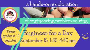 Engineer for a Day (TechGirlz) - Register