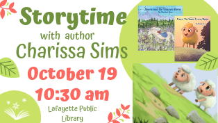 Storytime with Local Author Charissa Sims