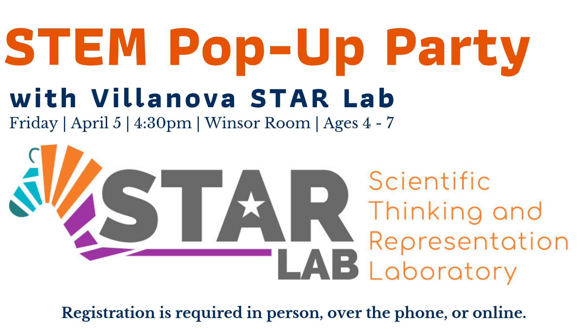 STEM Pop-Up Party with Villanova STAR Lab