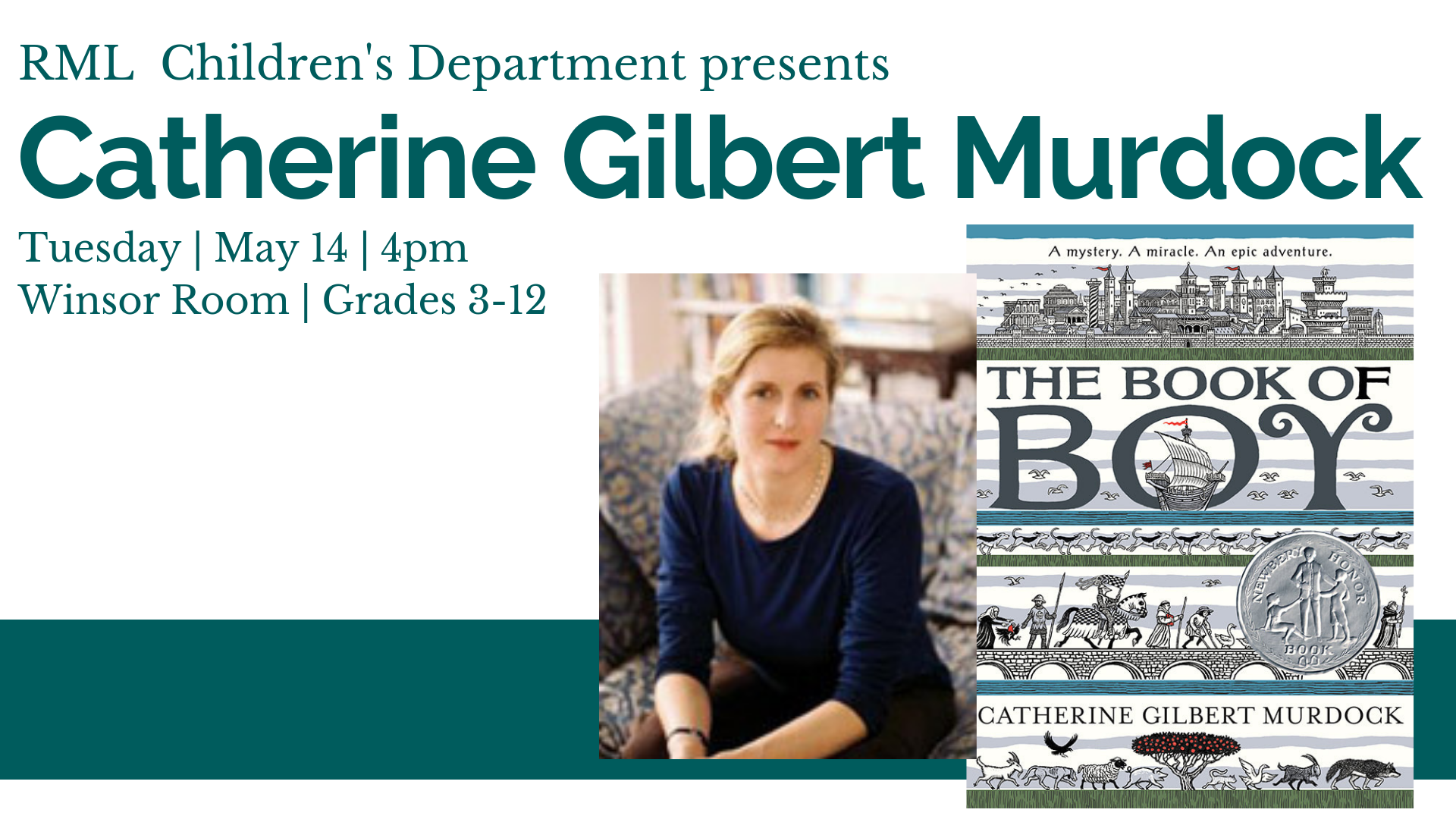 Catherine Gilbert Murdock: Author Visit