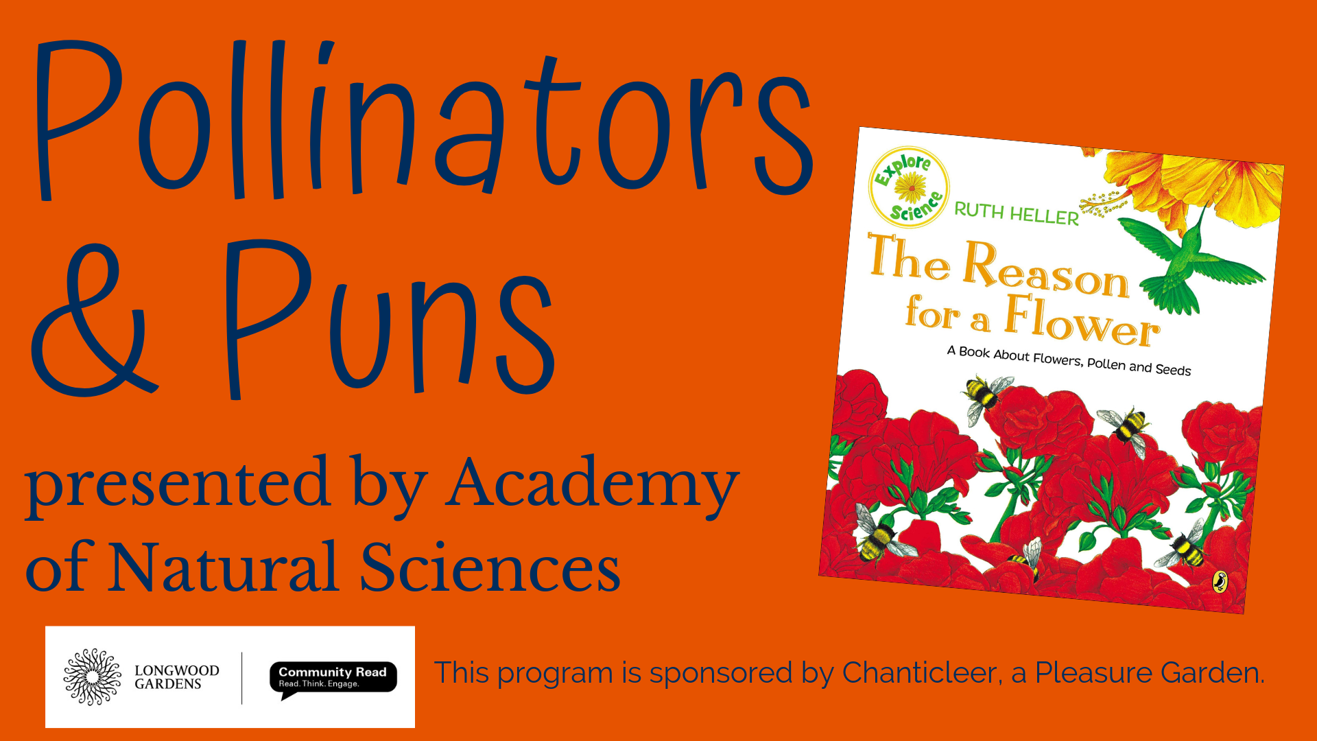 Pollinators & Puns presented by Academy of Natural Sciences