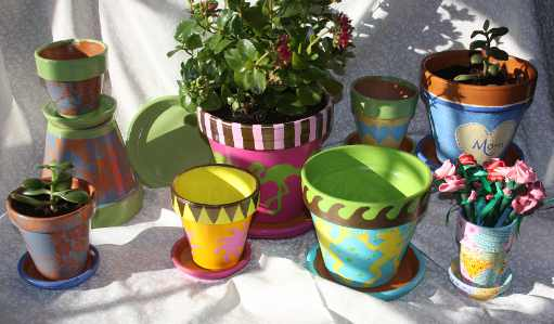 Makery @ Middletown: Painting Flower Pots
