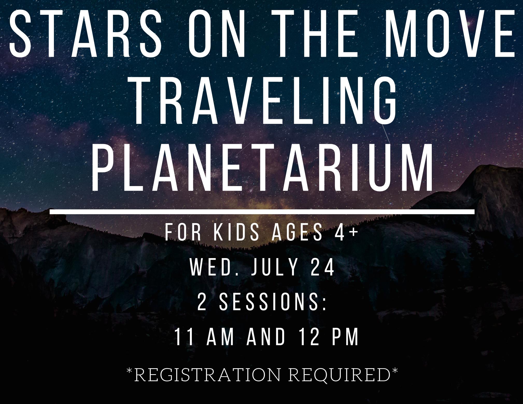 Stars on the Move Planetarium Session 2