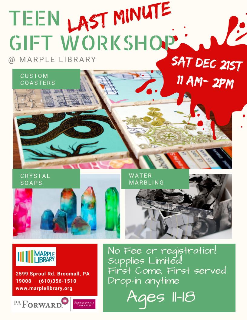 Last Minute Teen Gift Workshop