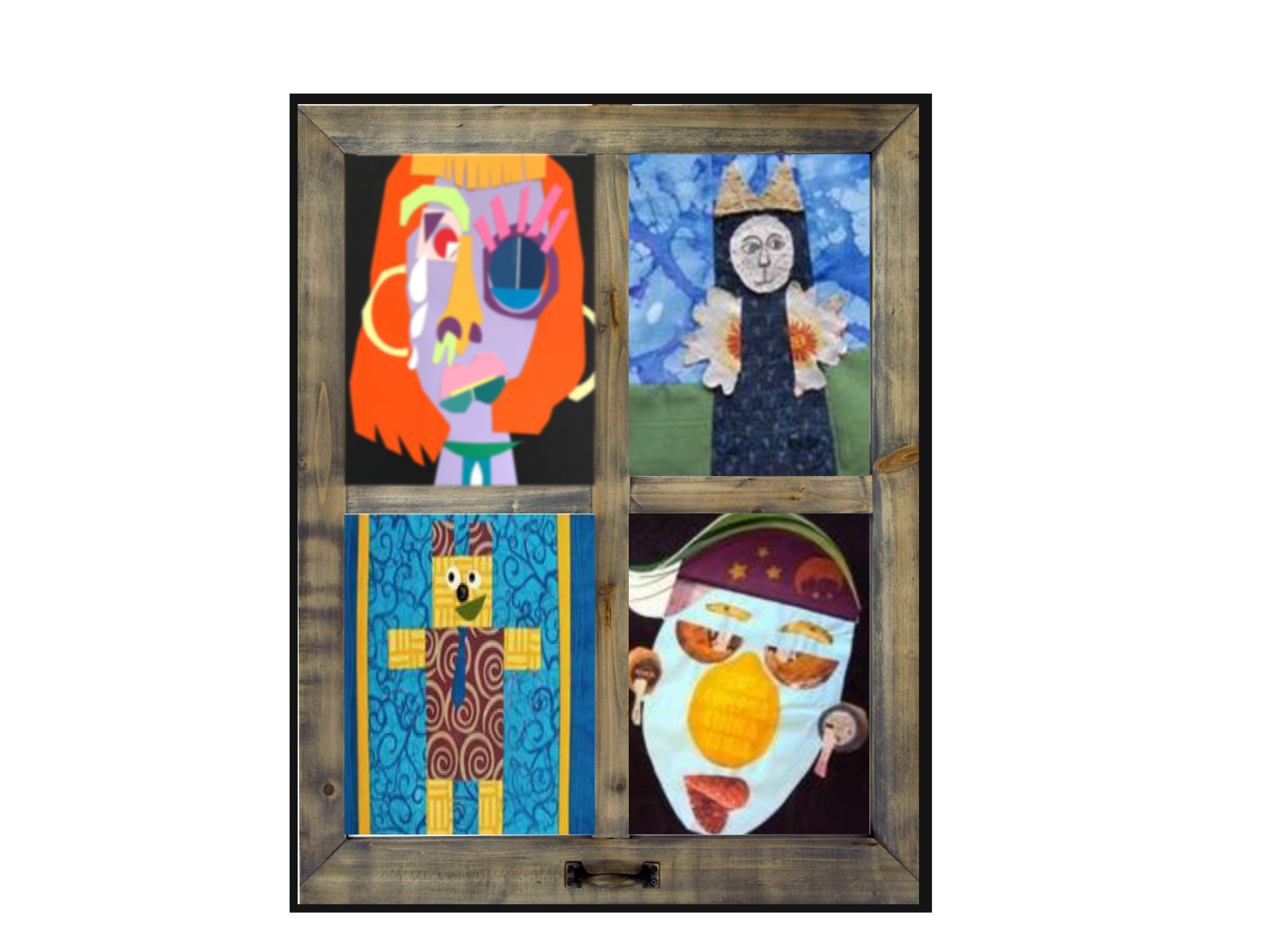 Young Artist's Club - Window Collage