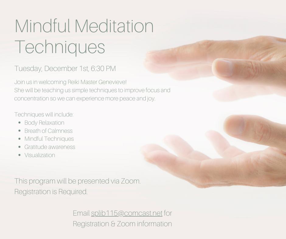 Mindful Meditation Techniques via Zoom