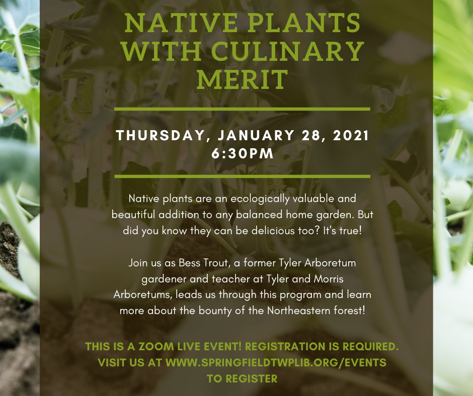 Native Plants with Culinary Merit