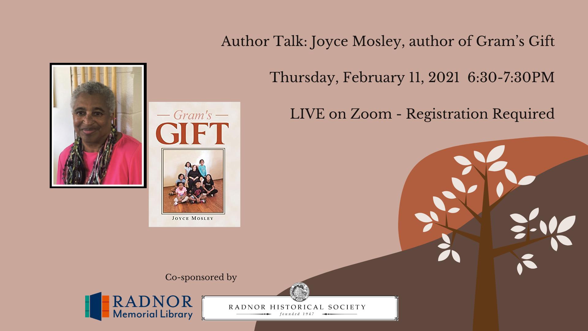 Author Talk: Joyce Mosley, author of Gram's Gift