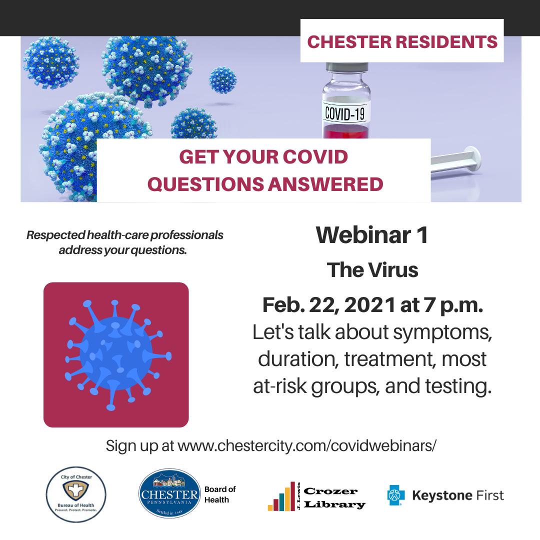 COVID-19 Webinar 1:  The Virus