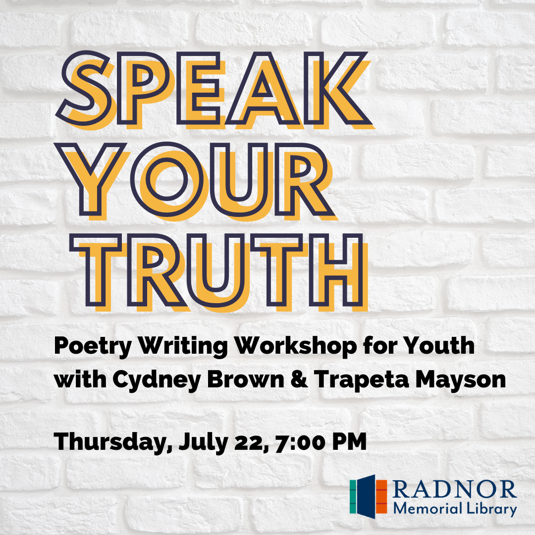 Speak Your Truth: Youth Poetry Writing Workshop