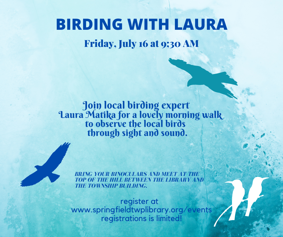 Birding with Laura