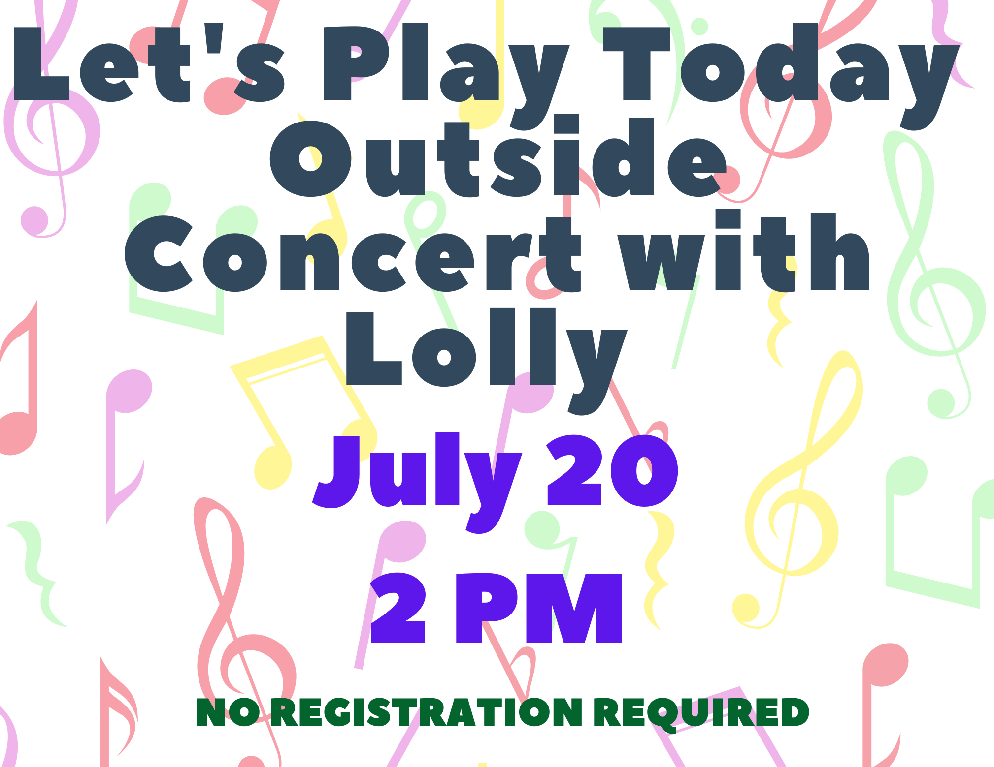 Outside Musical Performance by Lolly!
