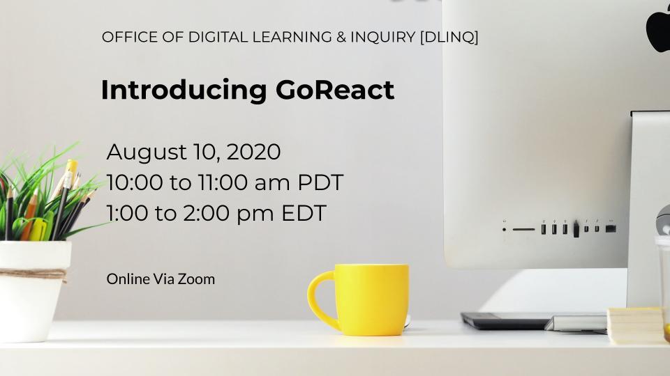 Introducing GoReact (8/10)