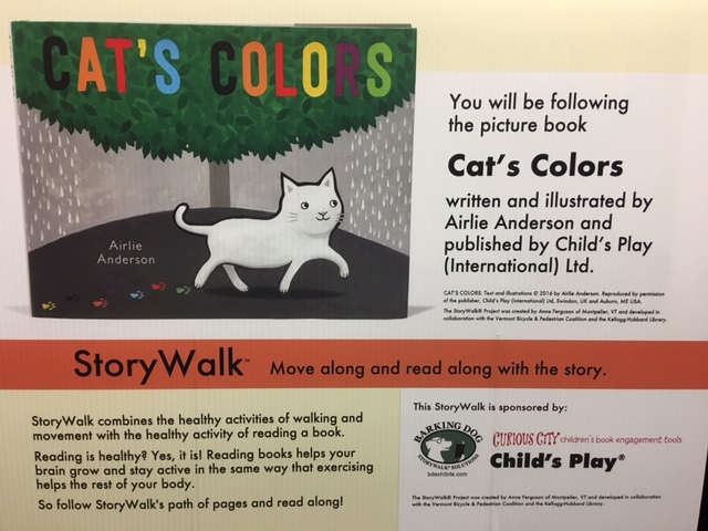 StoryWalk at the Saratoga Springs Public Library
