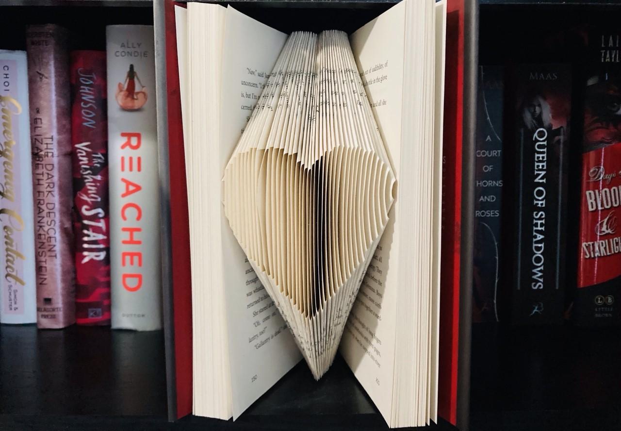 Folded Book Art: Making a Heart