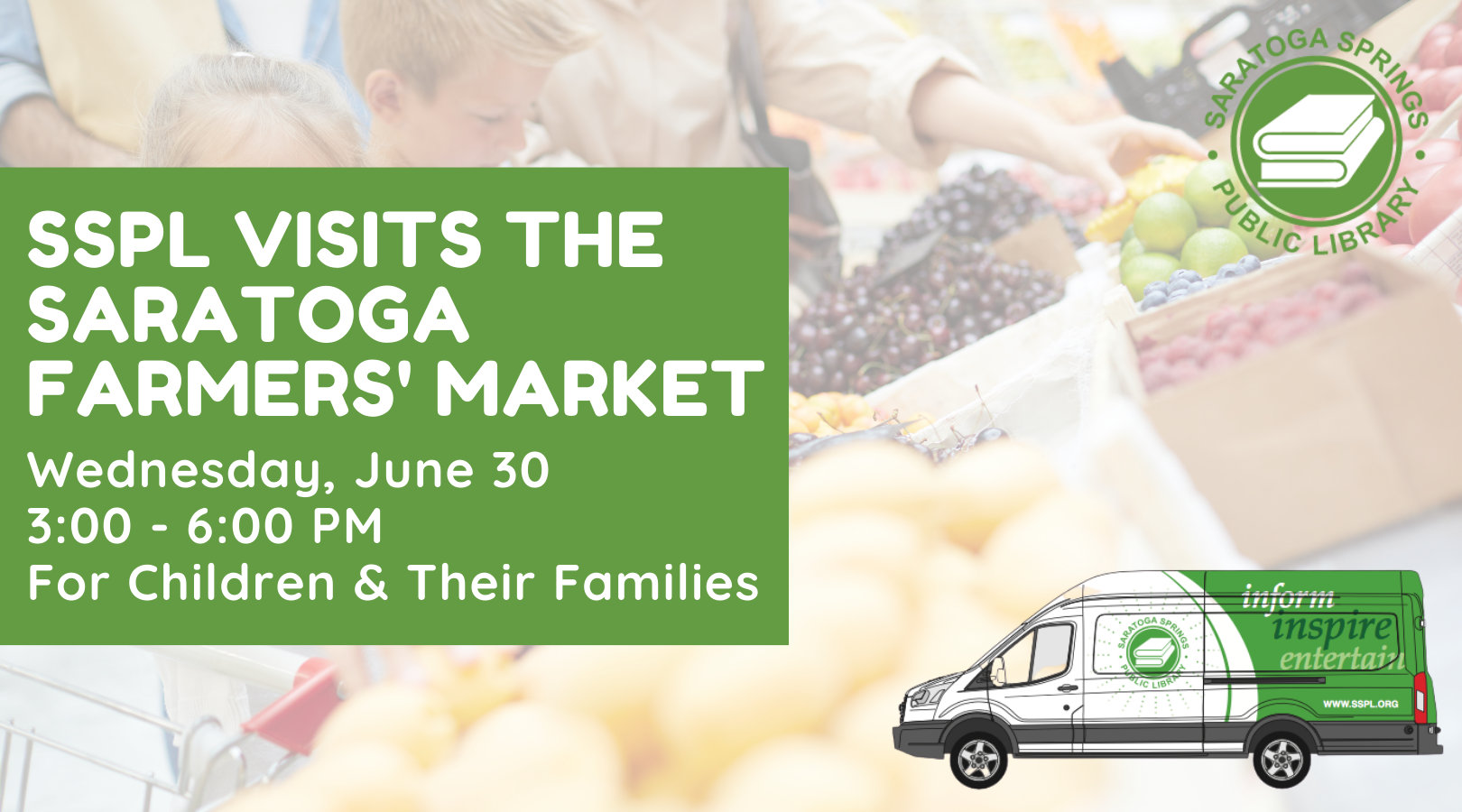Saratoga Springs Public Library Visits the Farmers' Market
