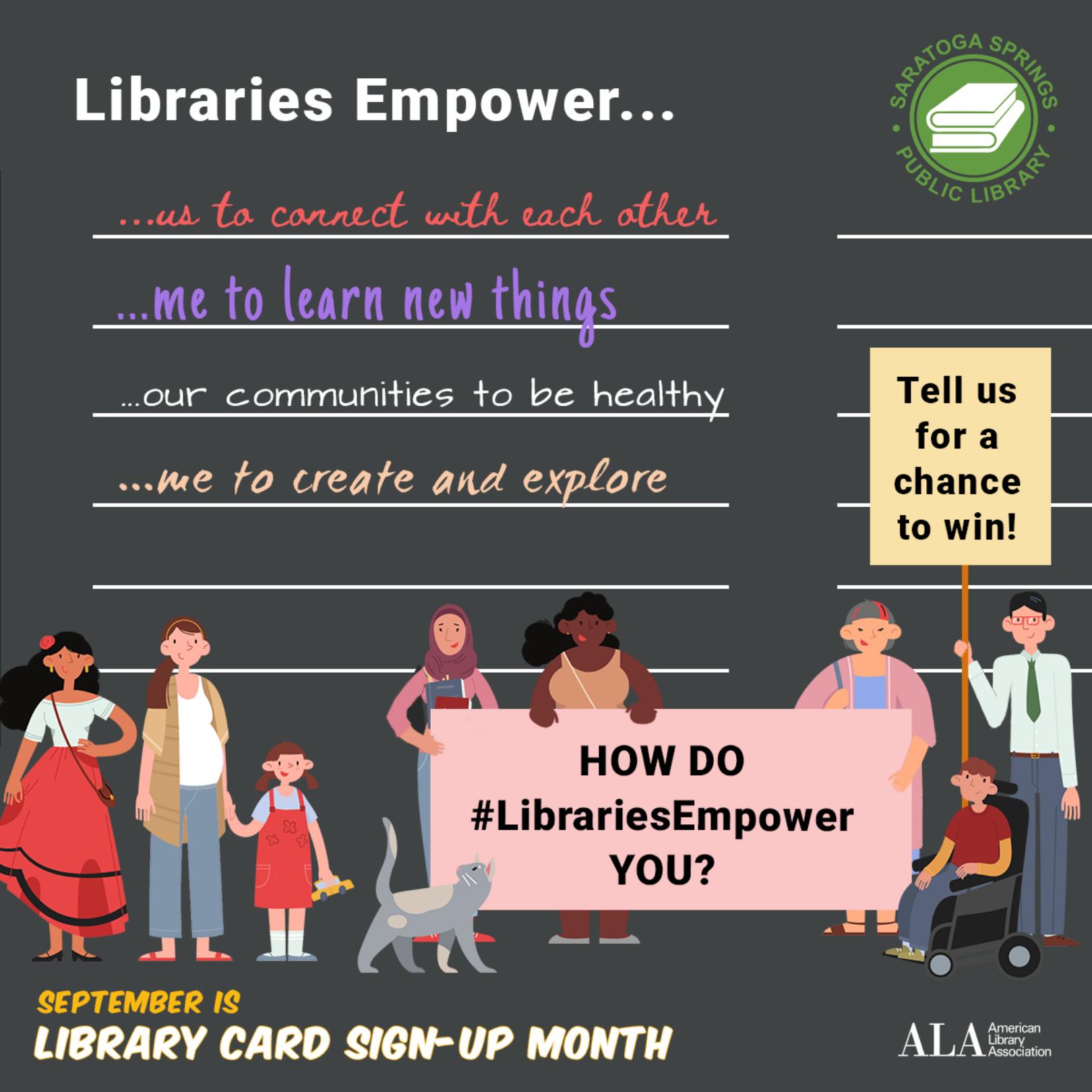 #LibrariesEmpower this September!