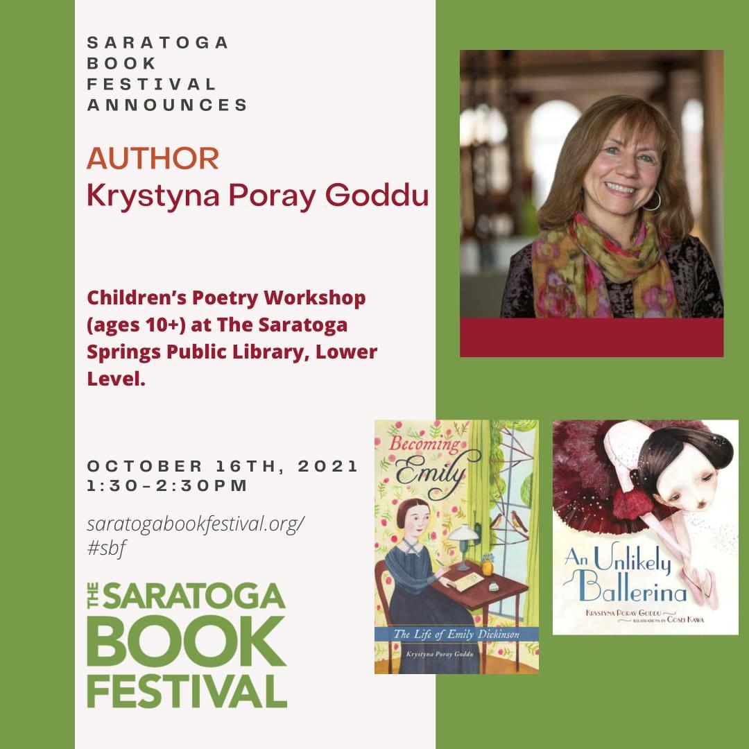Saratoga Book Festival: Children's Poetry Workshop with Krystyna Poray Goddu