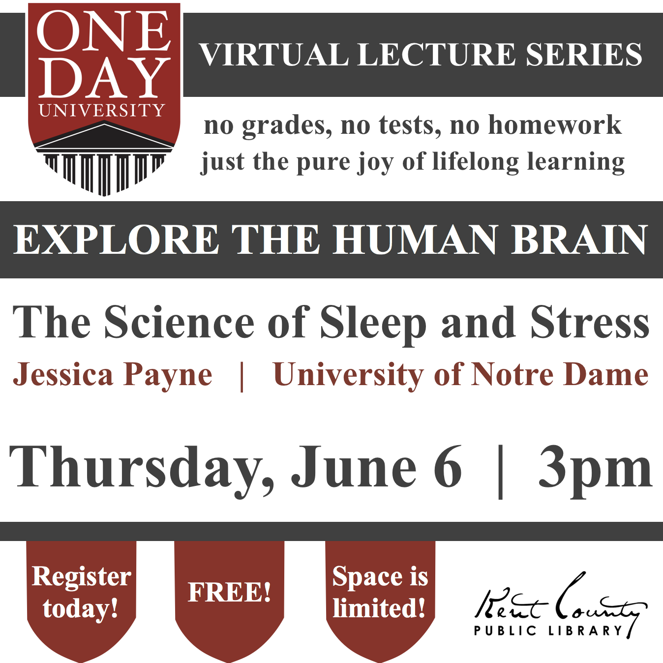 One Day University: The Science of Sleep and Stress