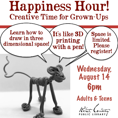 Happiness Hour: Creative Time for Grown-Ups - A 3Doodler Art Workshop