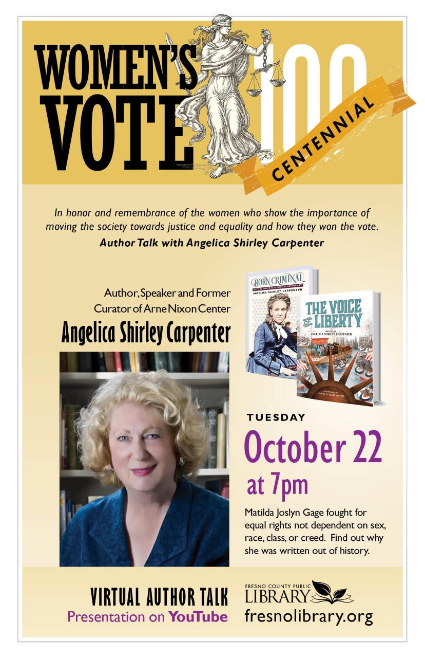 Virtual Author Talk with Angelica Shirley Carpenter: YouTube