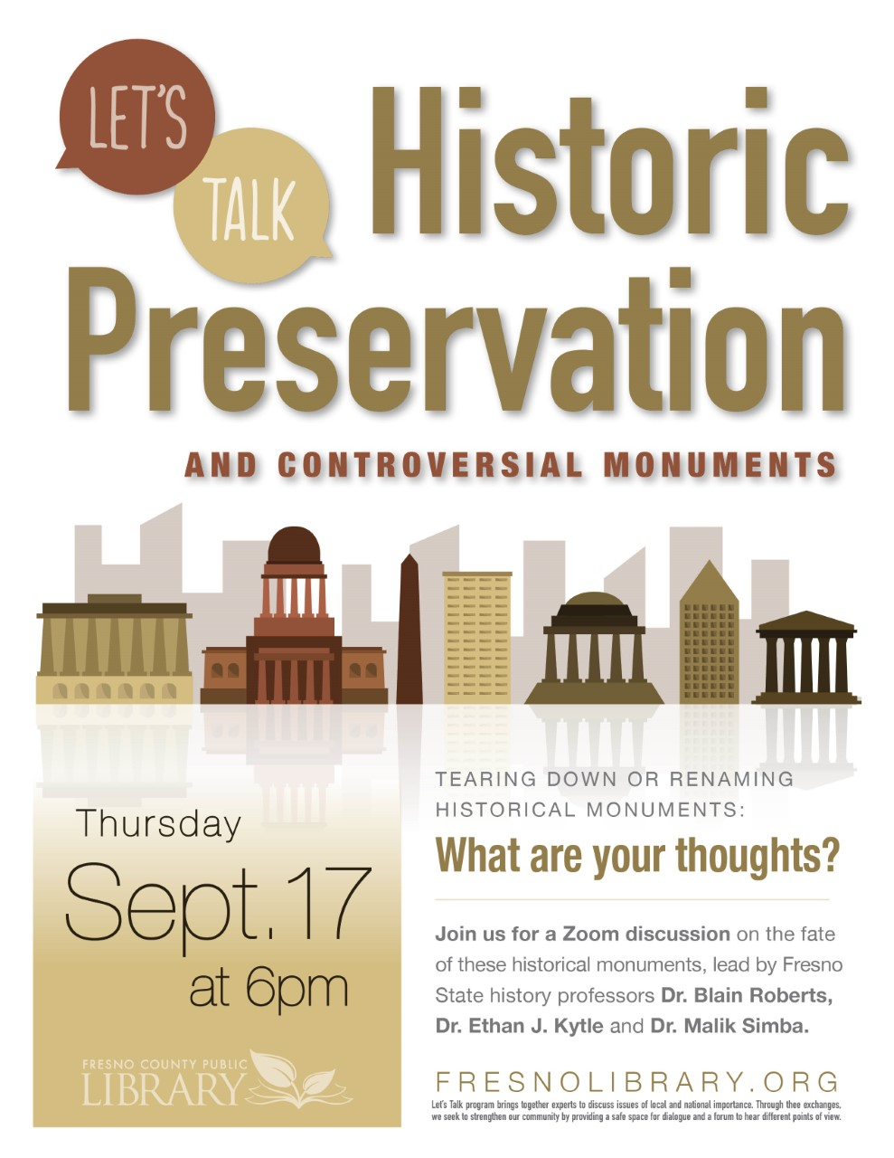 Let's Talk: Historic Preservation and Controversial Monuments: Zoom