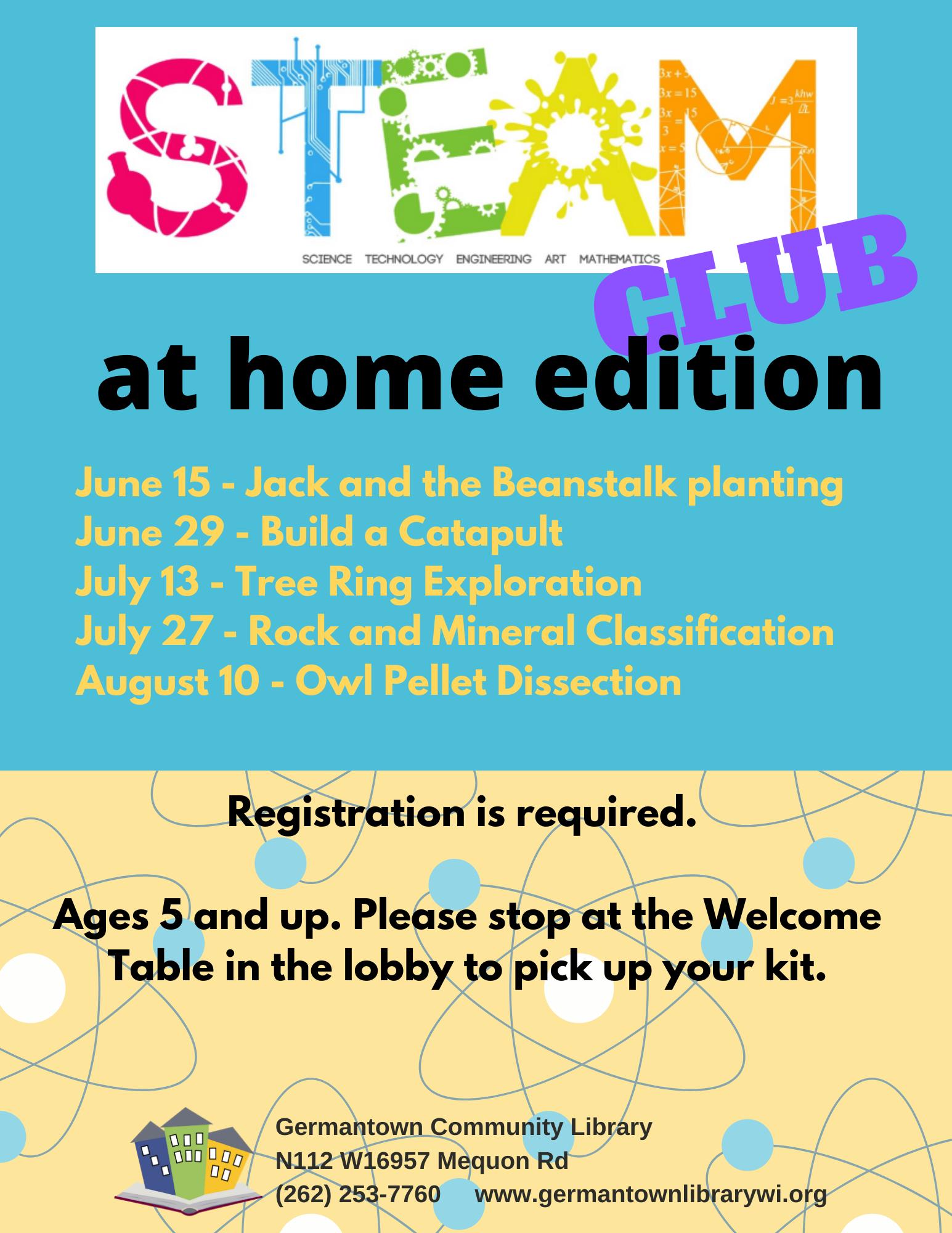 Steam Club - At Home Edition