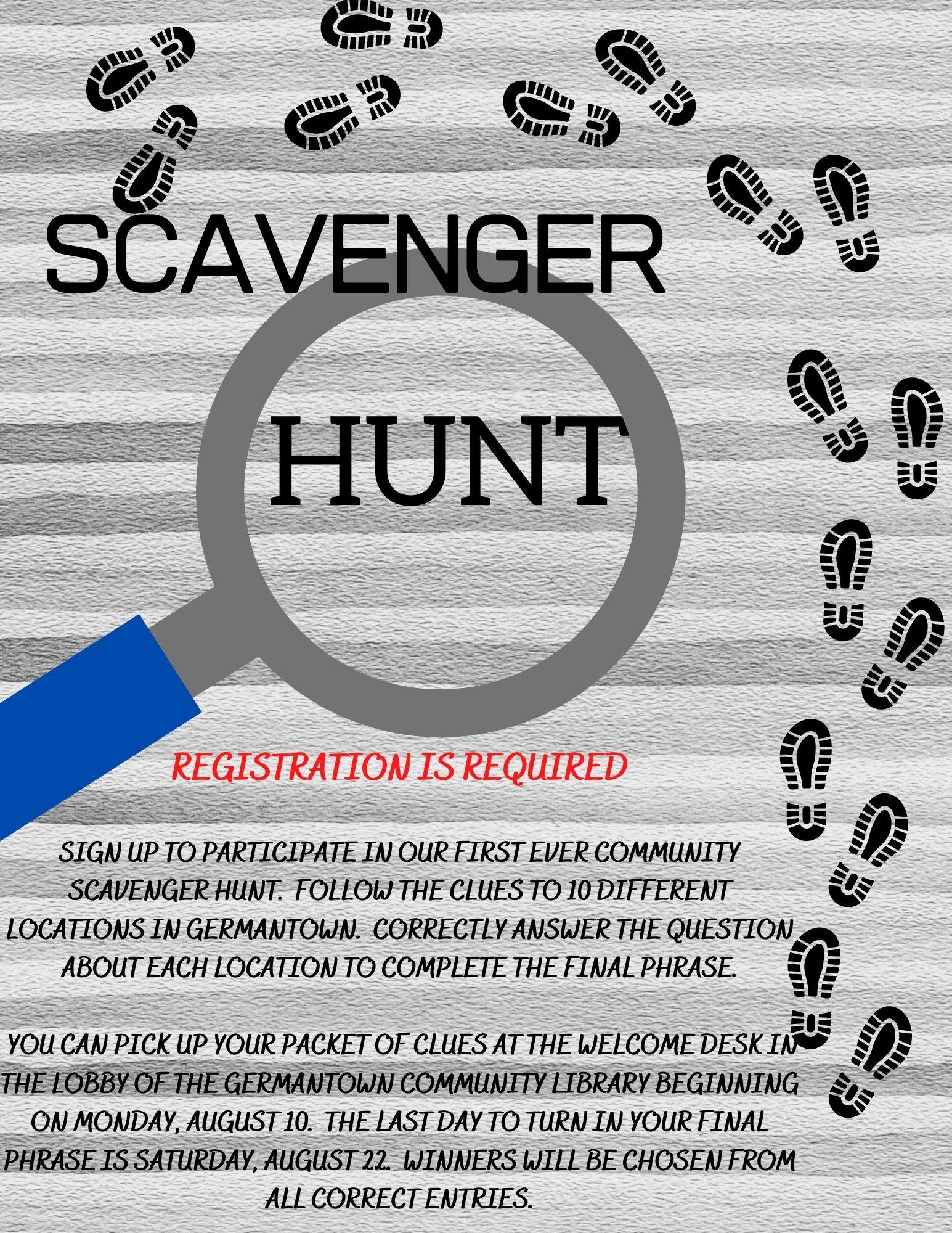 The Great Germantown Race - Community Scavenger Hunt