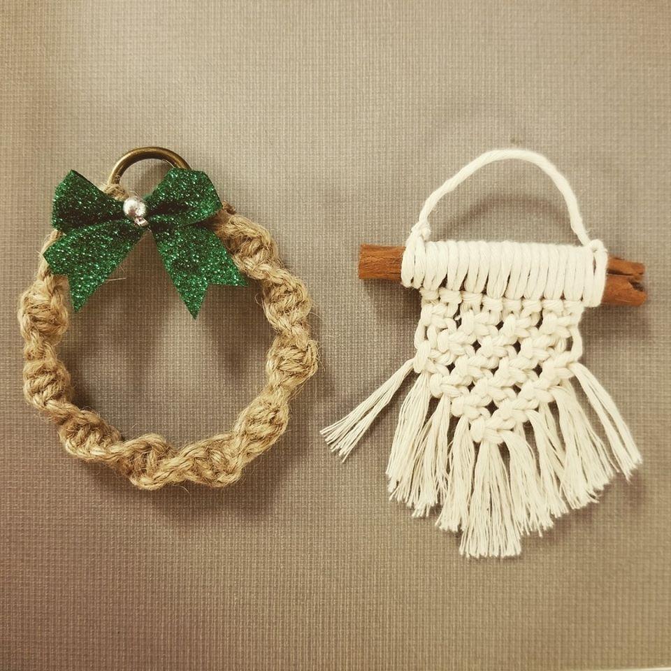 DIY Macrame Ornaments