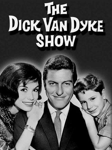 The Dick Van Dyke Show cast - Mary Tyler Moore, Dick Van Dyke, and Larry Mathews
