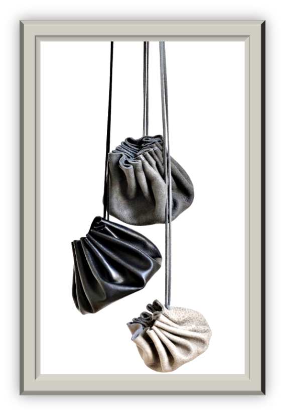 Faux Leather Drawstring Coin Pouch