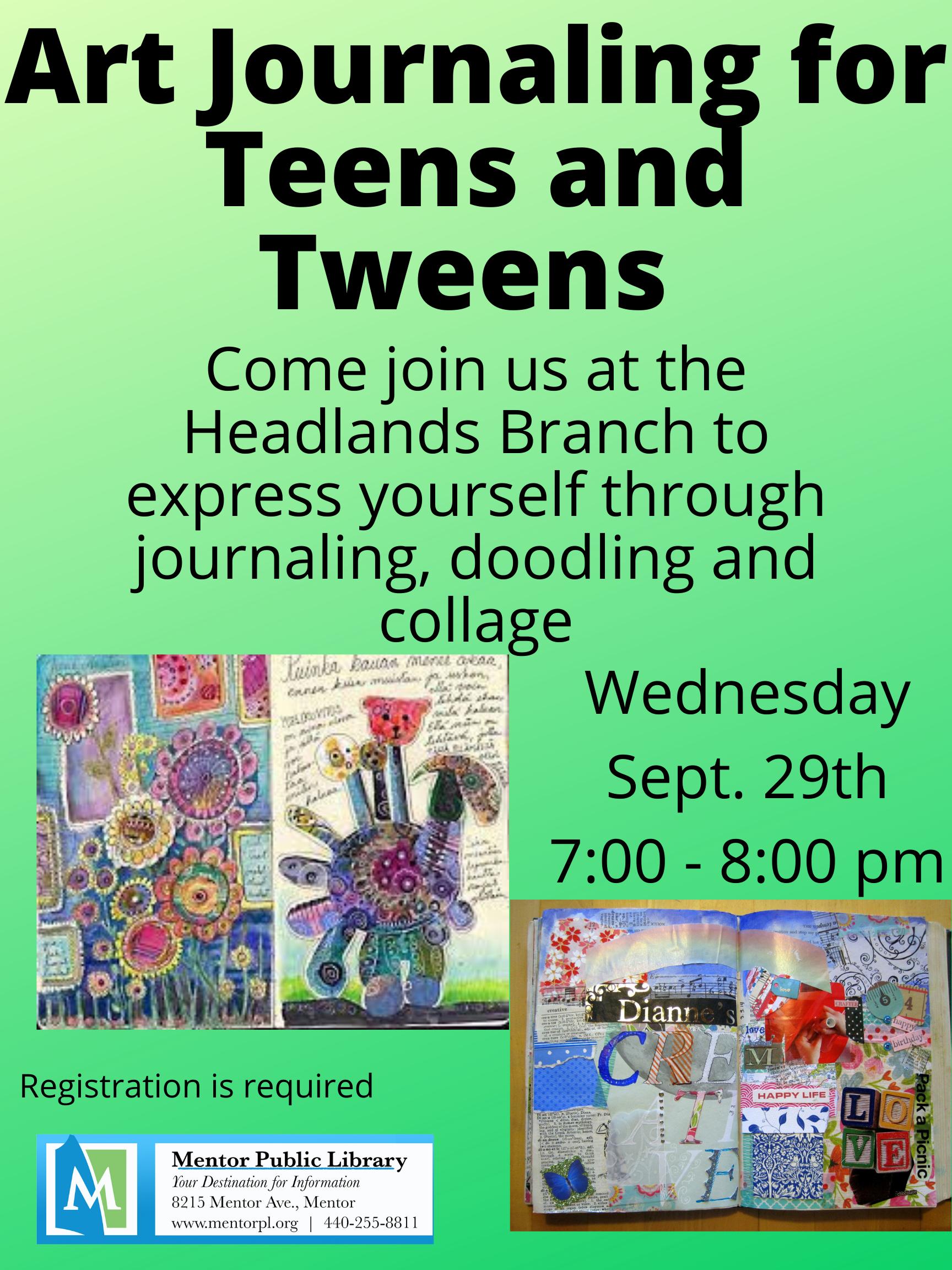 Art Journaling for Teens and Tweens