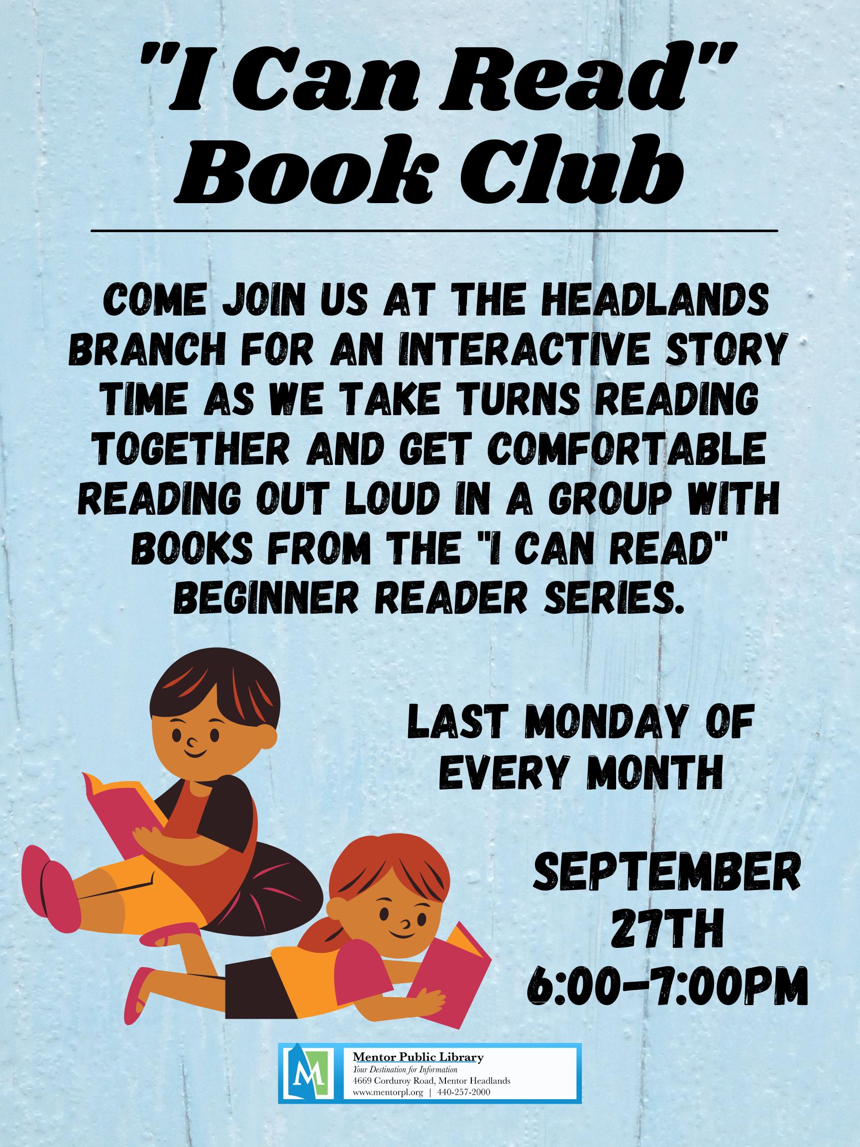 """I Can Read"" Book Club"
