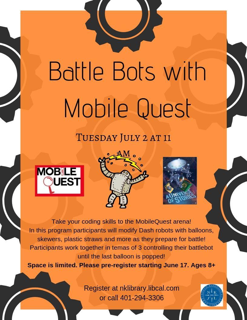 Battle Bots with Mobile Quest