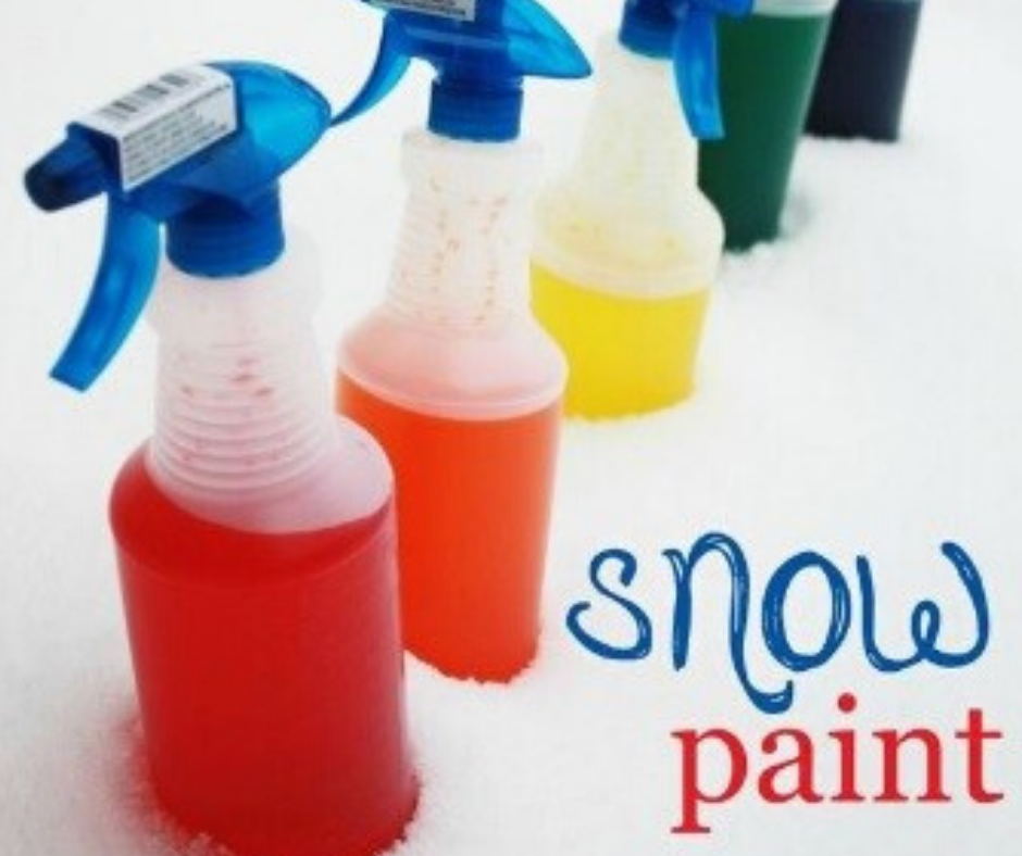 Sensory Saturday: Snow Painting