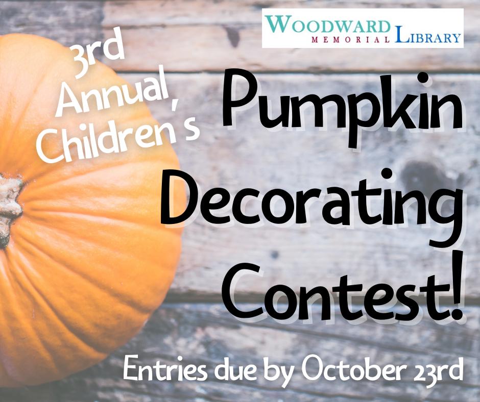 Pumpkin Decorating Contest BEGINS!