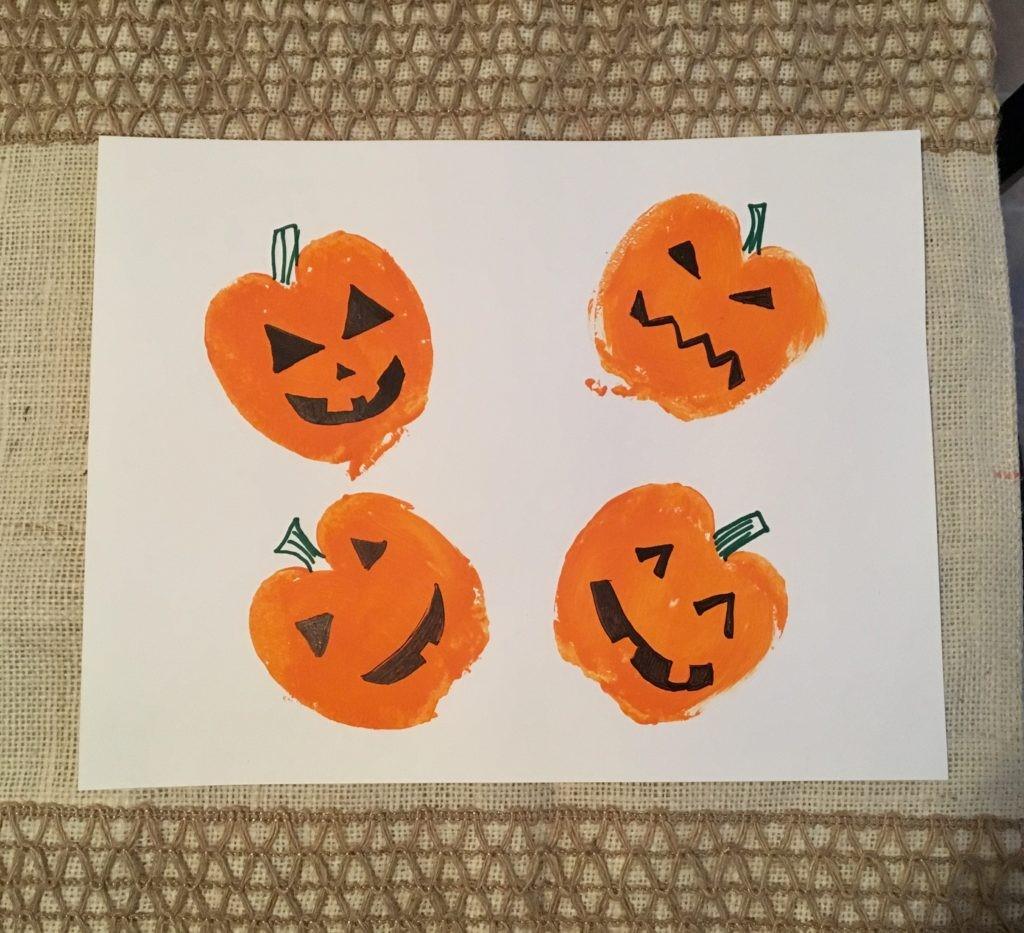 Kids Crafternoon: Pumpkin Stamps